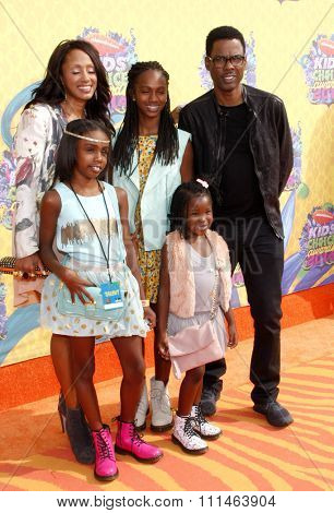Chris Rock at the Nickelodeon's 27th Annual Kids' Choice Awards held at the USC Galen Center in Los Angeles on March 29, 2014 in Los Angeles, California.