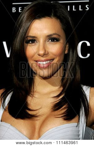 Eva Longoria attends the Rodeo Drive Walk Of Style Award honoring Gianni and Donatella Versace held at the Beverly Hills City Hall in Beverly Hills, California on February 8, 2007.