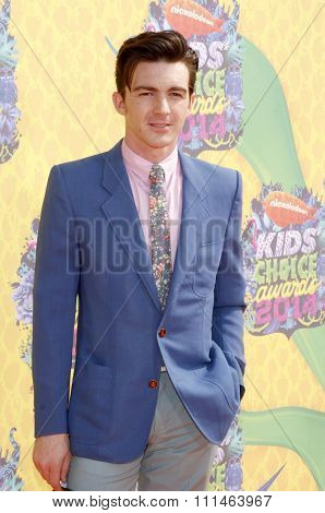 Drake Bell at the Nickelodeon's 27th Annual Kids' Choice Awards held at the USC Galen Center in Los Angeles on March 29, 2014 in Los Angeles, California.