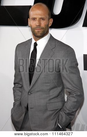 Jason Statham at the Los Angeles premiere of 'Furious 7' held at the TCL Chinese Theatre IMAX in Hollywood, USA on April 1, 2015.