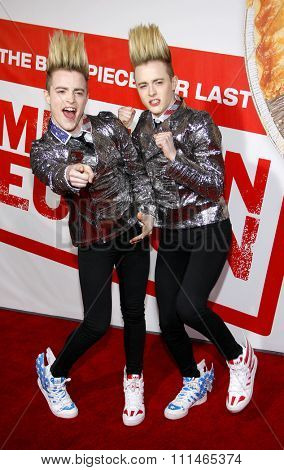 John Grimes and Edward Grimes at the Los Angeles premiere of 'American Reunion' held at the Grauman's Chinese Theater in Hollywood on March 19, 2012.