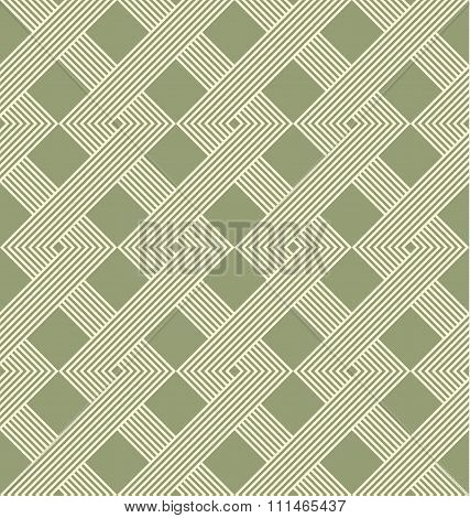 Geometric Seamless Pattern With Weave Style.