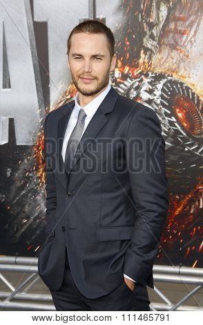 Taylor Kitsch at the Los Angeles premiere of 'Battleship' held at the Nokia Theatre L.A. Live in Los Angeles on May 10, 2012.