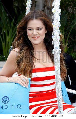 Khloe Kardashian at the Khloe Kardashian's HPNOTIQ Glam Louder Program Launch held at the Mr. C Beverly in Los Angeles, United States, 220513.