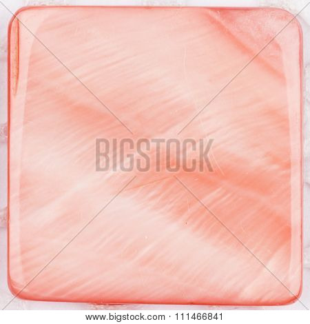 Natural Pink Colored Iridescent Nacre