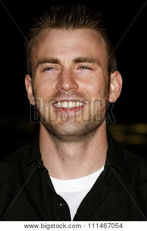 Chris Evans attends the LG Electronics' (LG) Launch of the