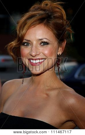 Christine Lakin attends the LG Electronics' (LG) Launch of the