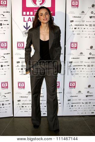 Mia Maestro attends the LALIFF Screening of