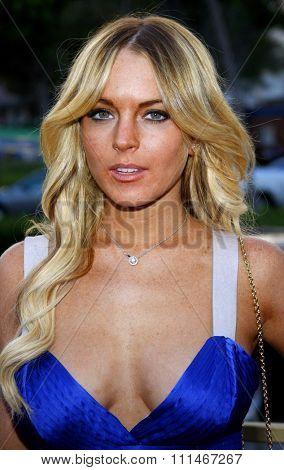 Lindsay Lohan attends the LG Electronics' (LG) Launch of the