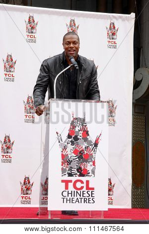 Chris Tucker at the Jackie Chan Hand and Foot Print Ceremony held at the TCL Chinese Theatre in Hollywood in Los Angeles, United States, 060613.