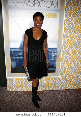 Adina Porter at the Los Angeles premiere of HBO's 'The Newsroom' Season 3 held at the DGA Theatre in Los Angeles on November 4, 2014.