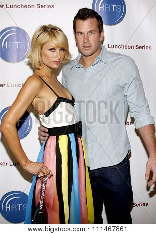 Paris Hilton and Doug Reinhardt at the HRTS'