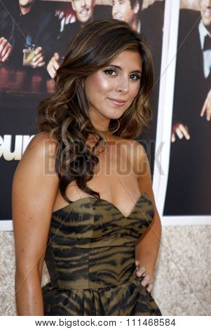 Jamie-Lynn Sigler at the HBO's 'Entourage' season 6 premiere held at the Paramount Studios Lot in Hollywood on July 9, 2009.
