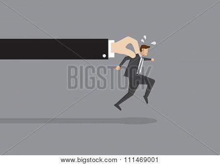 Businessman Tries To Escape