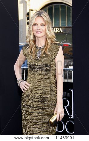 Michelle Pfeiffer at the Los Angeles premiere of 'Dark Shadows' held at the Grauman's Chinese Theatre in Hollywood on May 7, 2012.