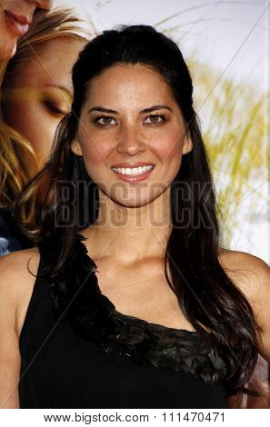 Olivia Munn at the Los Angeles premiere of 'Dear John' held at the Grauman's Chinese Theatre in Hollywood on Februaty 1, 2010.