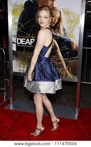 Amanda Seyfried at the Los Angeles premiere of 'Dear John' held at the Grauman's Chinese Theatre in Hollywood on Februaty 1, 2010.