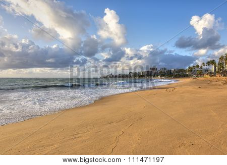 Morning Light On Beach In Maceio
