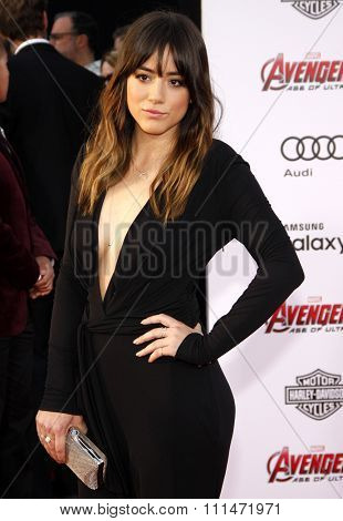 Chloe Bennet at the World premiere of Marvel's 'Avengers: Age Of Ultron' held at the Dolby Theatre in Hollywood, USA on April 13, 2015.