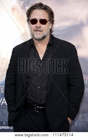 Russell Crowe at the Los Angeles premiere of 'The Water Diviner' held at the TCL Chinese Theatre IMAX in Hollywood, USA on April 16, 2015.