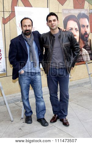 Asghar Farhadi and Peyman Moaadi at the American Cinematheque's 69th Annual Golden Globe Awards Foreign-Language Nominee Event held at the Egyptian Theater on January 15, 2012.