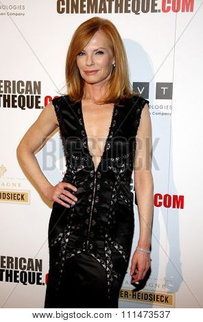 Marg Helgenberger at the American Cinematheque 27th Annual Award Presentation held at the Beverly Hilton Hotel in Los Angeles, United States, 121213.