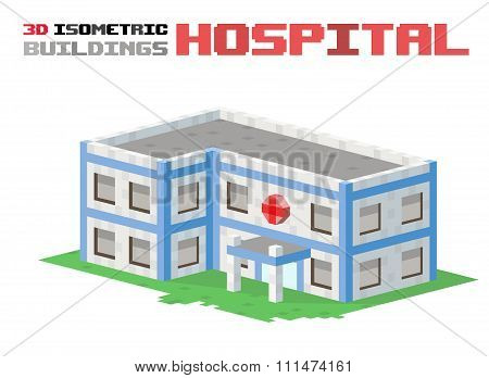 Hospital building vector illustration