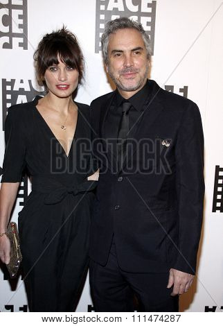 Sheherazade Goldsmith and Alfonso Cuaron at the 64th Annual ACE Eddie Awards held at the Beverly Hilton Hotel in Los Angeles, United States, 070214.