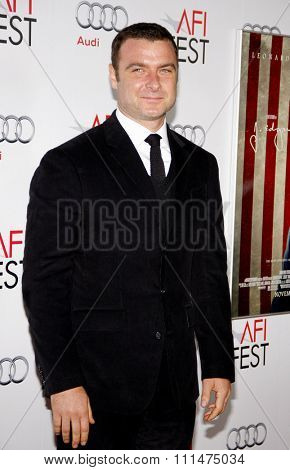 Liev Schrieber at the AFI FEST 2011 Opening Night Gala World Premiere Of 'J. Edgar' held at the Grauman's Chinese Theatre in Hollywood on November 3, 2011.