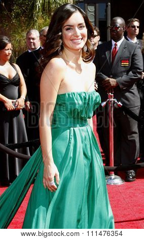 Ana de la Reguera attends the 59th Annual Primetime Emmy Awards held at the Shrine Auditorium in Los Angeles, California, United States on September 16, 2007.