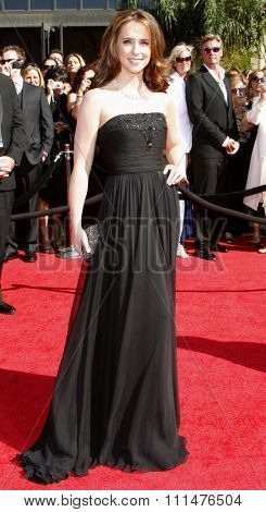 Jennifer Love Hewitt attends the 59th Annual Primetime Emmy Awards held at the Shrine Auditorium in Los Angeles, California, United States on September 16, 2007.