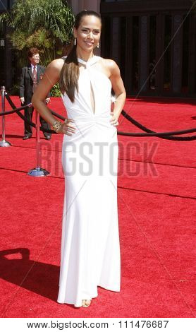 Rosanna Taravez attends the 59th Annual Primetime Emmy Awards held at the Shrine Auditorium in Los Angeles, California, United States on September 16, 2007.