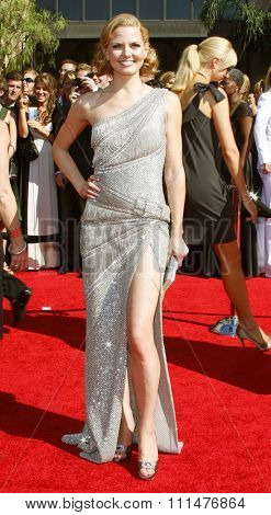 Jennifer Morrison attends the 59th Annual Primetime Emmy Awards held at the Shrine Auditorium in Los Angeles, California, United States on September 16, 2007.