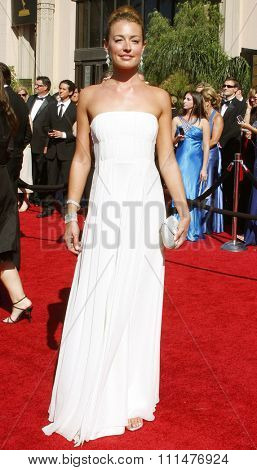 Cat Deeley attends the 59th Annual Primetime Emmy Awards held at the Shrine Auditorium in Los Angeles, California, United States on September 16, 2007.