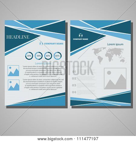 Brochure Flyer Design Layout Template, Size A4, Front Page And Back Page World Design Eps 10 Vector