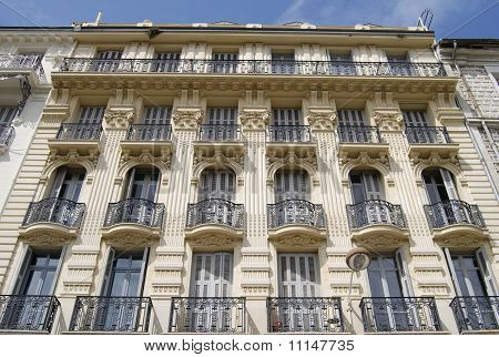 Ornate Building Facade In Nice.