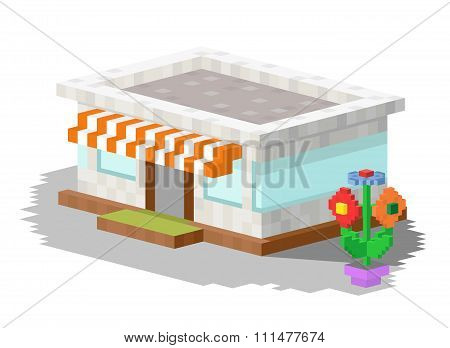 Shop market building vector illustration