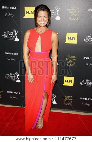 Melissa Claire Egan at the 39th Annual Daytime Emmy Awards held at the Beverly Hilton Hotel in Beverly Hills on June 23, 2012.