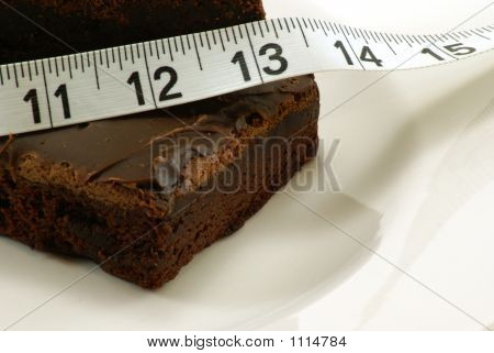 Brownie With Measuring Tape