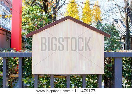 Wooden board in temple