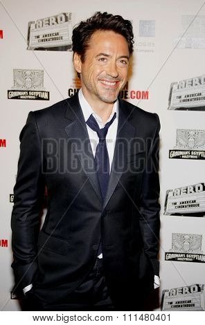 Robert Downey Jr at the 25th American Cinematheque Award Honoring Robert Downey Jr held at the Beverly Hilton hotel in Beverly Hills on October 14, 2011.