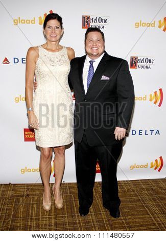Chaz Bono at the 23rd Annual GLAAD Media Awards held at the Westin Bonaventure Hotel in Los Angeles on April 21, 2012.