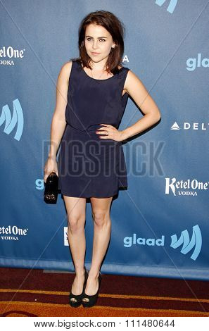 Mae Whitman at the 24th Annual GLAAD Media Awards held at the JW Marriott Hotel in Los Angeles, United States, 200413.