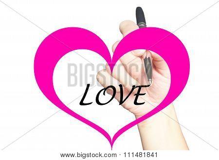 Love Message Concept