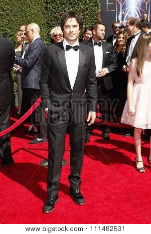 Ian Somerhalder at the 2014 Creative Arts Emmy Awards held at the Nokia Theatre L.A. Live in Los Angeles, United States, 160814.