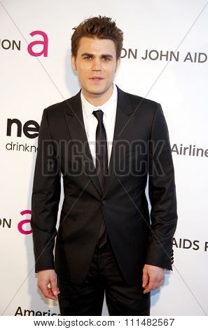 Paul Wesley at the 21st Annual Elton John AIDS Foundation Academy Awards Viewing Party held at the Pacific Design Center in West Hollywood on February 24, 2013.