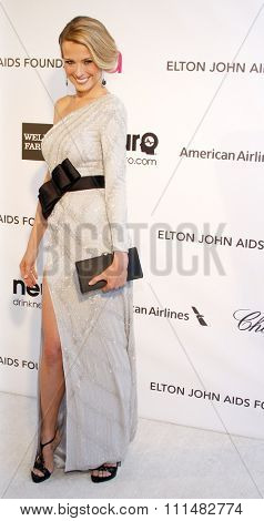 Petra Nemcova at the 21st Annual Elton John AIDS Foundation Academy Awards Viewing Party held at the Pacific Design Center in West Hollywood on February 24, 2013.