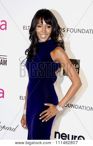 Naomi Campbell at the 21st Annual Elton John AIDS Foundation Academy Awards Viewing Party held at the Pacific Design Center in West Hollywood on February 24, 2013.