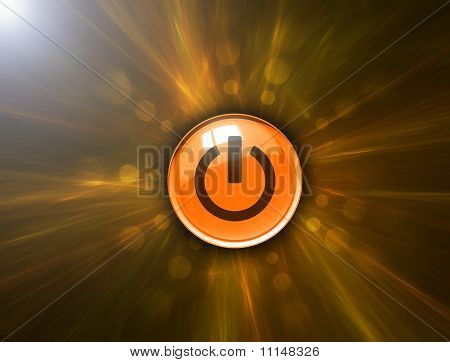 Abstract background and power button