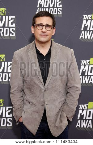 Steve Carell at the 2013 MTV Movie Awards at the Sony Pictures Studios on April 14, 2013 in Los Angeles, California.